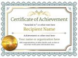 Template for A Certificate Of Achievement Certificate Of Achievement Free Templates Easy to Use
