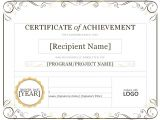 Template for A Certificate Of Achievement Certificate Of Achievement Quotes Quotesgram