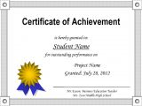 Template for A Certificate Of Achievement Printable Certificate Of Achievement Certificate Templates