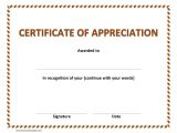Template for A Certificate Of Appreciation Certificate Of Appreciation