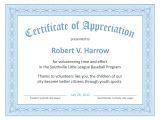 Template for A Certificate Of Appreciation Certificate Templates