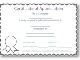 Template for A Certificate Of Appreciation Free Certificate Of Appreciation Templates Certificate
