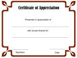 Template for A Certificate Of Appreciation Printable Blank Certificate Template Word Calendar