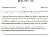 Template for A Living Will 9 Sample Living Wills Pdf Sample Templates
