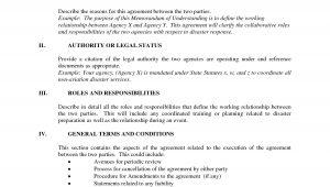 Template for A Memorandum Of Understanding Memorandum Of Understanding Template Tryprodermagenix org