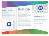 Template for Brochure Free Download Tri Fold Brochure Vector Template Download Free Vector