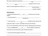 Template for Child Care Contract Sample Contract 23 Examples In Pdf