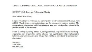 Template for Follow Up Email after A Meeting 14 Thank You Email after Interview Doc Excel Pdf