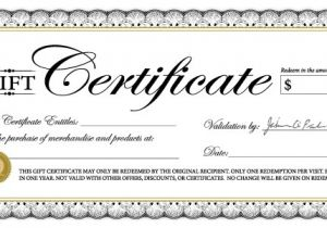 Template for Gift Certificate for Services 18 Gift Certificate Templates Excel Pdf formats
