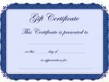 Template for Gift Certificate for Services 56 Gift Certificate Templates Sample Templates