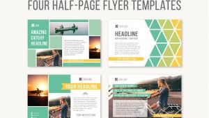 Template for Half Page Flyer Four Half Page Flyer Templates Templates On Creative Market