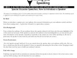 Template for Introducing A Speaker Template for Introducing A Speaker 7 Special Occasion