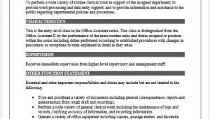 Template for Job Description In Word 11 Elements Of A Job Description form Small Business