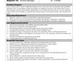 Template for Job Description In Word 9 Job Description Templates Word Excel Pdf formats