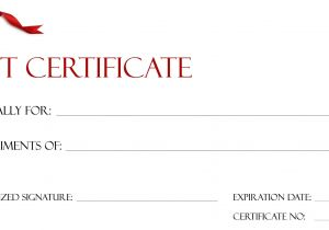 Template for Making A Gift Certificate Gift Certificate Templates to Print Activity Shelter