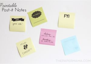 Template for Printing On Post It Notes Printable Post It Notes Free Layout to Print and Make