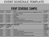 Template for Schedule Of events event Schedule Templates Word Excel Samples