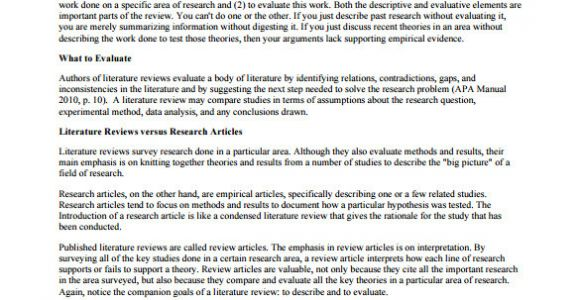 Template for Writing A Literature Review 10 Literature Review Outline Templates Pdf Doc Free