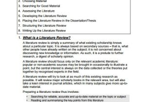 Template for Writing A Literature Review 5 Literature Review Templates Download for Free Sample