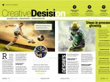 Template Layout Majalah Sport Magazine by Becreative Graphicriver