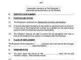 Template Of A Contract Of Employment 8 Employment Contract Templates Free Sample Example