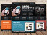 Templates for Advertising Flyers Digital Marketing Flyer Psd Flyer Templates Creative
