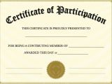 Templates for Certificates Of Participation Certificate Of Participation Templates Blank Certificates