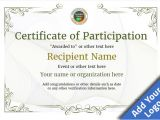 Templates for Certificates Of Participation Participation Certificate Templates Free Printable Add