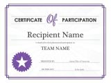 Templates for Certificates Of Participation Printable Participation Templates Certificate Templates