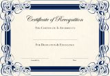 Templates for Certificates Of Recognition Printables English Genie
