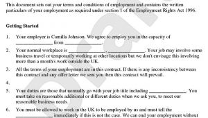 Templates for Employment Contracts Employment Contract Template Free Contract Of Employment