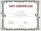 Templates for Gift Certificates Free Downloads Gift Certificate Template Floral Design Dotxes