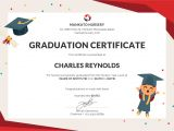 Templates for Graduation Certificates Free Nursery Graduation Certificate Template In Psd Ms