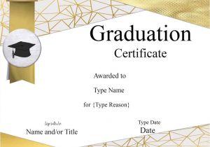 Templates for Graduation Certificates Graduation Certificate Template Customize Online Print