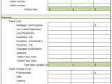 Templates for Household Budgets 5 House Budget Template