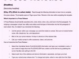 Templates for Press Releases Free Sample Press Release Template Word