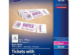 Templates for Tickets with Stubs 7 Best Images Of Avery Raffle Tickets Printable Avery