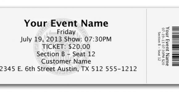 Templates for Tickets with Stubs Ticket Image Template Oklmindsproutco Templates for