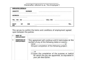 Temporary Contract Of Employment Template 17 Employment Contract Samples Examples Templates