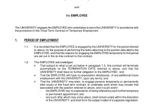 Temporary Contract Of Employment Template 18 Employment Contract Templates Pages Google Docs