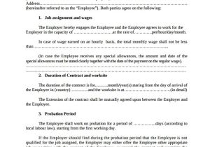 Temporary Contract Of Employment Template 23 Sample Employment Contract Templates Docs Word
