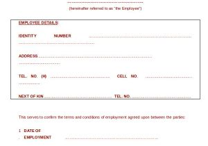 Temporary Contract Of Employment Template Employment Contract Template 21 Sample Word Apple