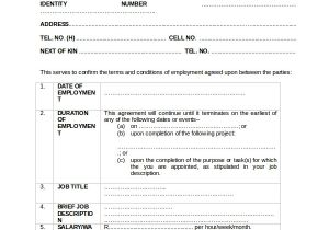 Temporary Contract Of Employment Template Sample Employment Contract 18 Documents In Word Pdf