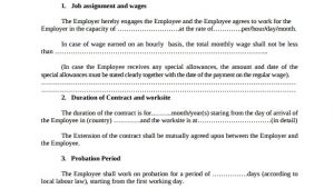 Temporary Employment Contract Template Free Download Employment Contract 9 Download Documents In Pdf Doc