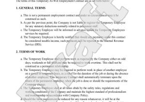 Temporary Employment Contract Template south Africa Temporary Employment Contract Template Qualads