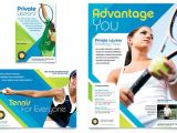 Tennis Brochure Template Tennis Club Camp Flyer Ad Template Design