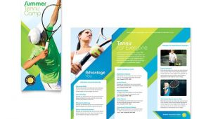 Tennis Brochure Template Tennis Club Camp Tri Fold Brochure Template Design