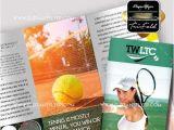 Tennis Brochure Template Tennis Club V5 Psd Tri Fold Psd Brochure Template Allday