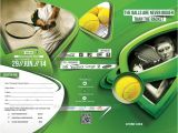 Tennis Brochure Template Tennis Competition Trifold Brochure Template by