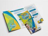Tennis Brochure Template Tennis Tri Fold Brochure Template Psd Ai Vector